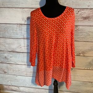 XL Croft & Barrow orange scoop neck tunic top.